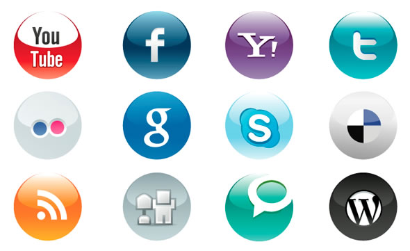 Delicate Social Icons