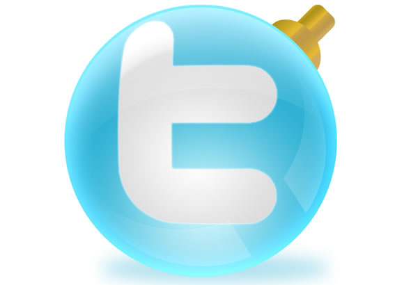 Shiny Social Media Ball Icons Set