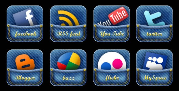 Jeans Pocket Social Media Icon