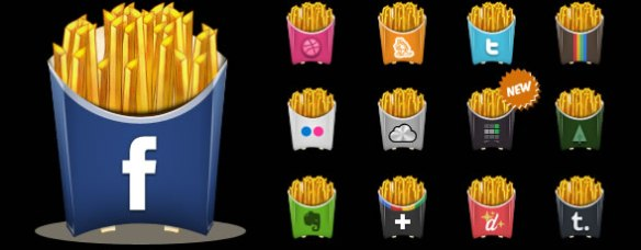 Social Fries icons