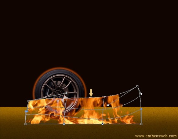 Create Wheel on Fire Effect in Photoshop