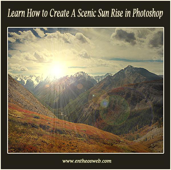 Create a Scenic Sun Rise in Photoshop