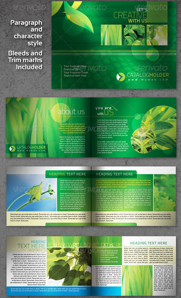 Creative InDesign Brochure/Catalogue 12pages