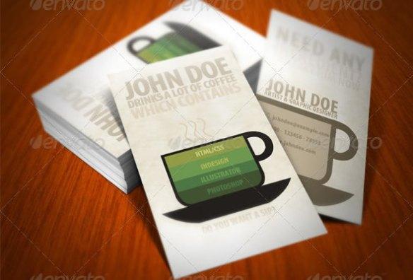 Creative Coffee Business Card