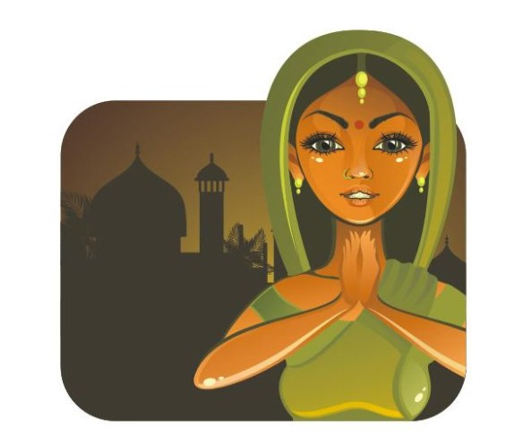 Drawing an Indian Girl in Vector Step by Step