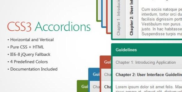 CSS3 Accordions