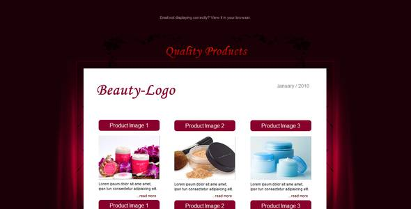 BEAUTY - Email Template - 6 Layouts