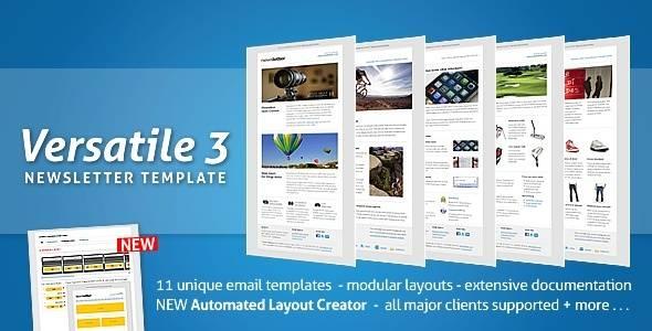 Versatile Newsletter 3 - automated layout creator