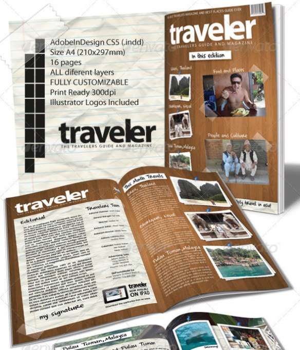 Traveler Magazine Indesign Template