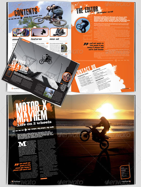 eXtreme Magazine Template