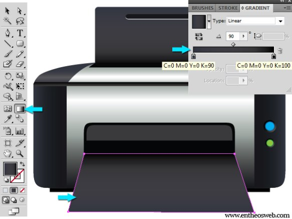 learn to make a printer vector in illustrator entheosweb a printer vector in illustrator