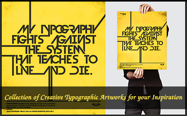 Collection of Creative Typographic Artworks for your Inspiration