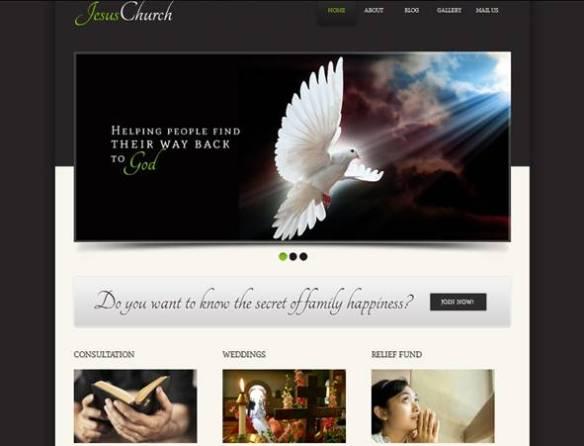 Jesus Religious Joomla Template
