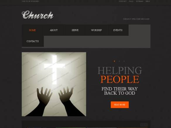 Church Religious Website Template