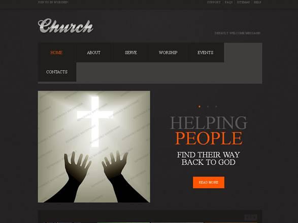 Church Religious Website Template
