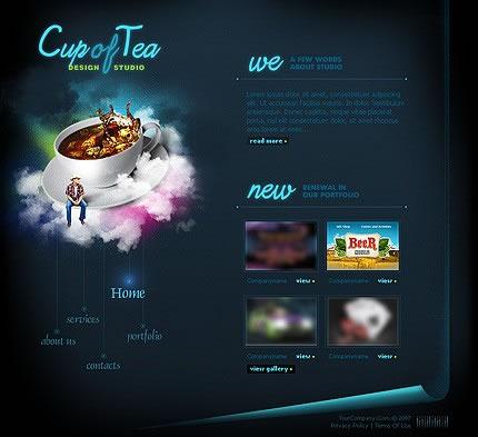 Cloud Nine Advertising Design Studio Flash 8 Website