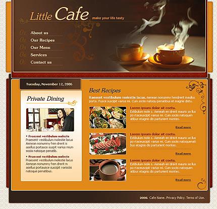 Little Cafe Website Template