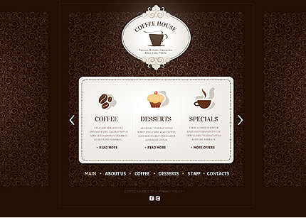 Template 39938 - Coffee House Website Template