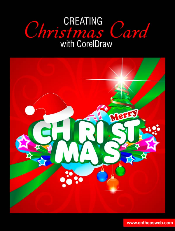 Christmas Card Design in Corel Draw