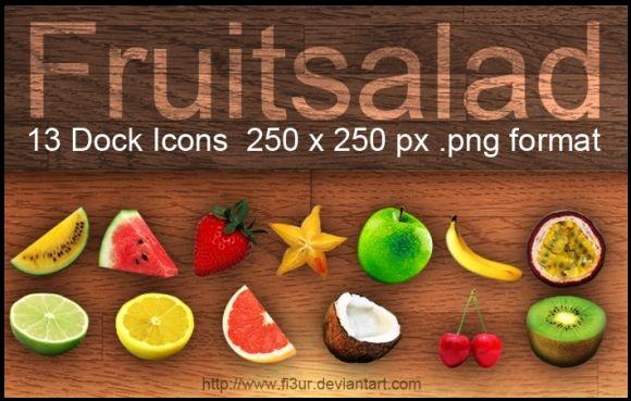 Fruitsalad Dock Icons(13 icons)