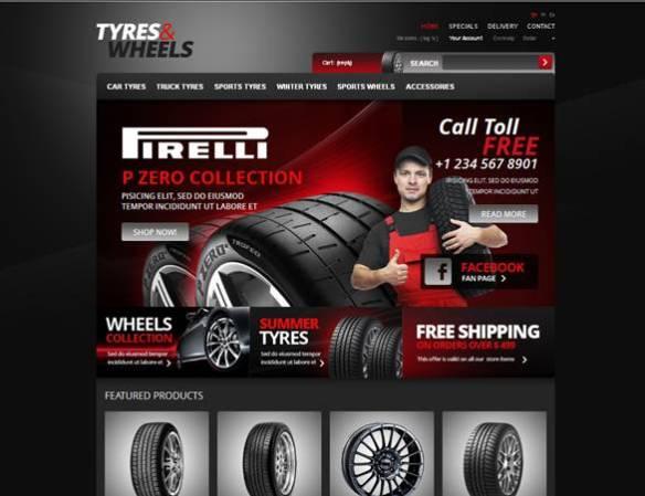 Tyres & PrestaShop Theme