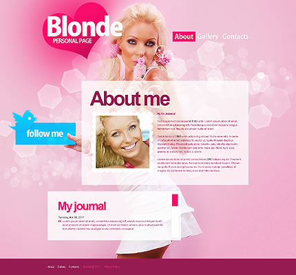 Blonde Personal Website Template