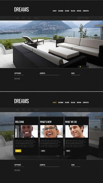 Real Estate HTML5 Single Page Website Design