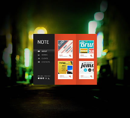 Note Design Flash Website Template