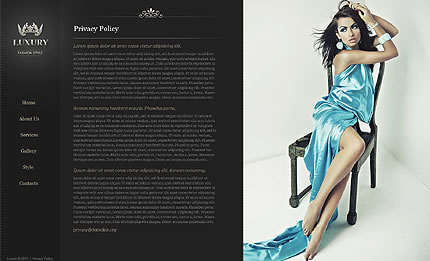 Beautiful Single Page HTML5 Fashion Website Design