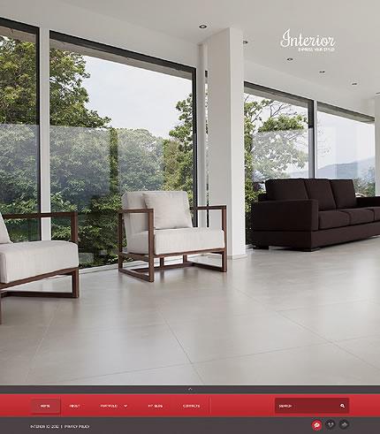 Interior Design WordPress Theme With Beautiful Homepage Image Gallery, Blog & Portfolio Gallery