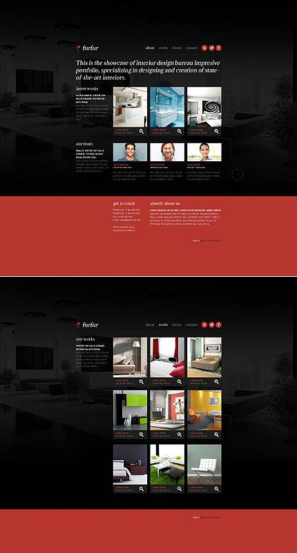 Furfur Interior Website Template