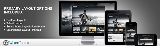 Awesome Surfing Responsive WordPress Theme With Blog & Photo Gallery