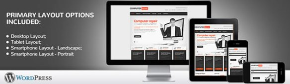 Computer Repair Responsive WordPress Theme With Homepage Intro Slider & Blog
