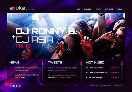 Azuka Night Website Template