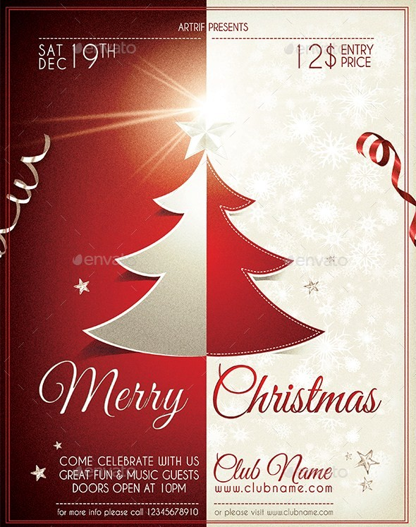 Smart Christmas Tree Red & White Flyer