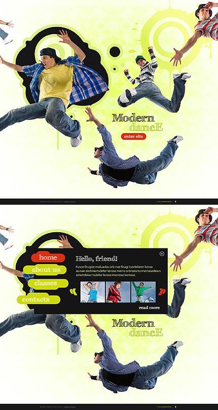 Modern Dance Flash Website Template