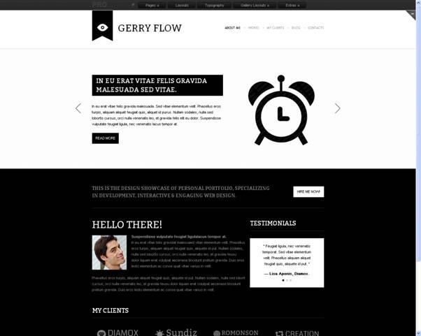 Gerry Flow Website Template