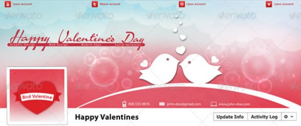Happy Valentine's Day Timeline Cover