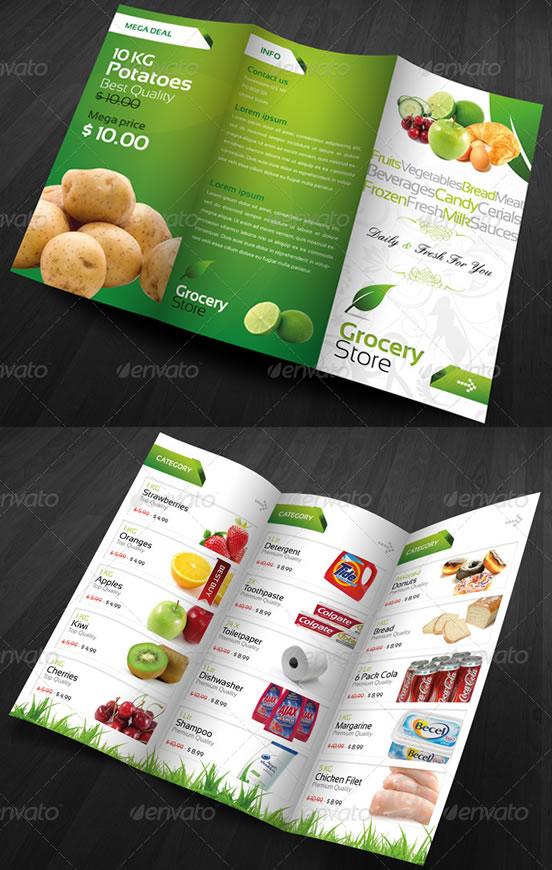 RW Grocery Store Modern Fresh Brochure