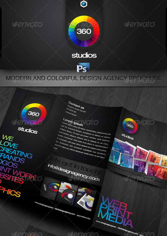 RW Colorful Agency Trifold Brochure