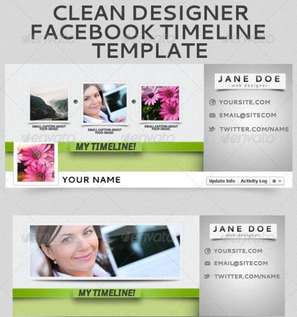 Clean Designer Facebook Timeline Template