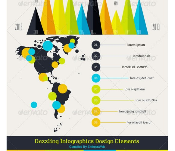 Dazzling Infographics Design Elements