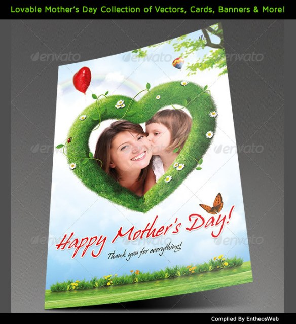 Lovable Mother's Day Collection of Vectors, Cards, Banners & More!