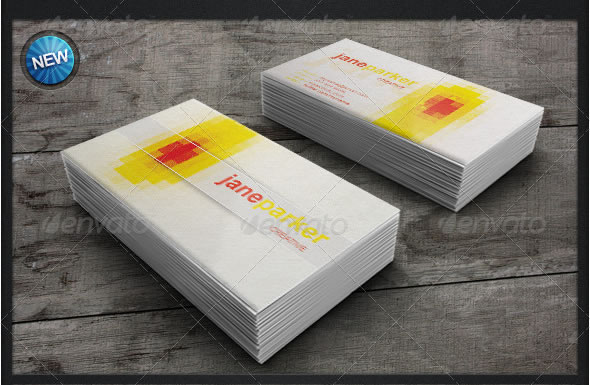 Pixelated Business Card Design