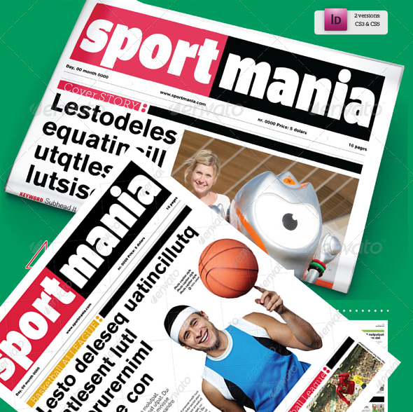 40 Pages Sport Supplement For Newspaper