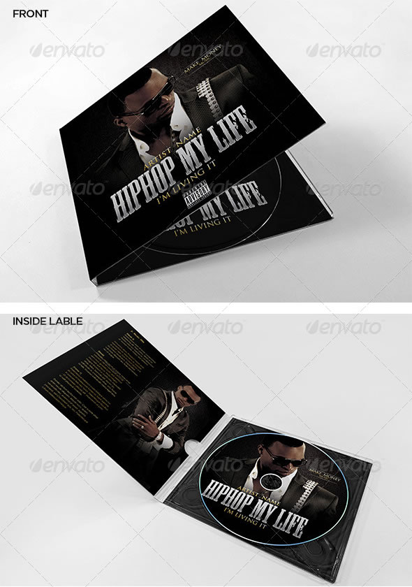 Hip Hop My Life CD Cover Template