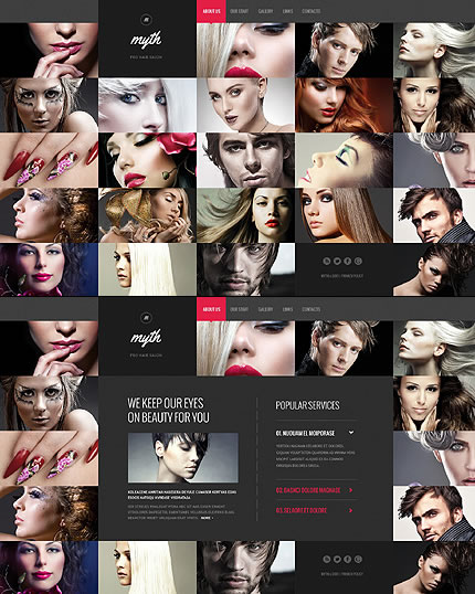 Template 46078 - Template 46078 – Beauty Website Template with Homepage Portfolio, Cool Add-ons