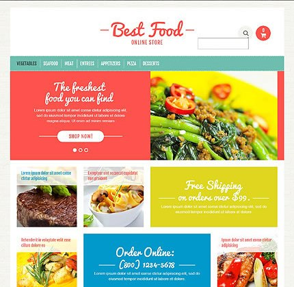 Template 45704 - Food Online Responsive OpenCart Template