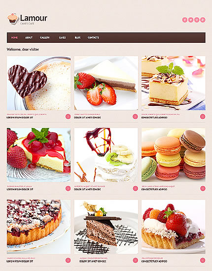 Template 46704 - Cafe Responsive Joomla website template with Homepage Gallery, Grid Format, Blog and Gallery
