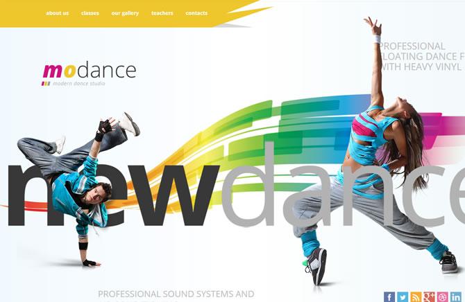 Template 45859 - To Dance Website Template